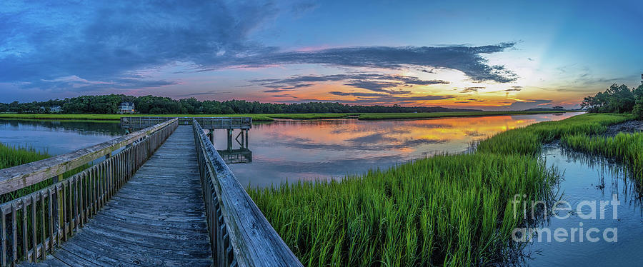 Heritage Shores Nature Preserve Sunrise by David Smith