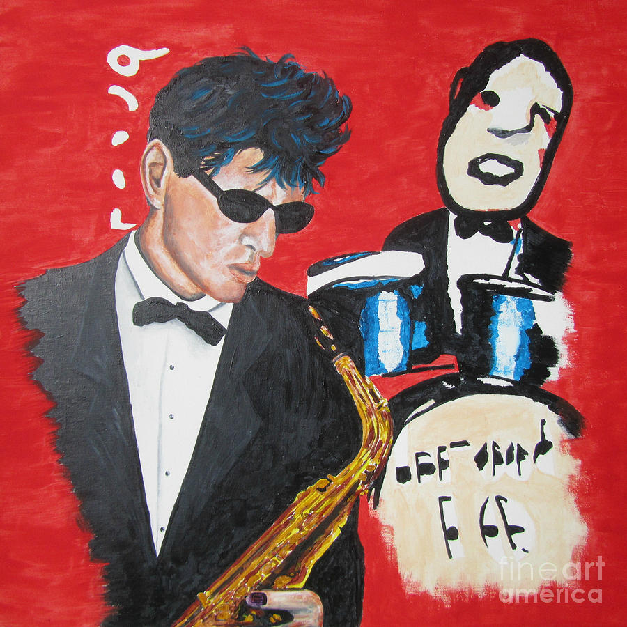 Herman Brood jamming with his art by Jeepee Aero