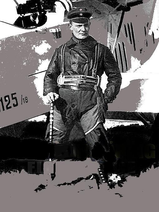 Herman Goring Ww1 Aviator Number Two Circa 1918 Photograph