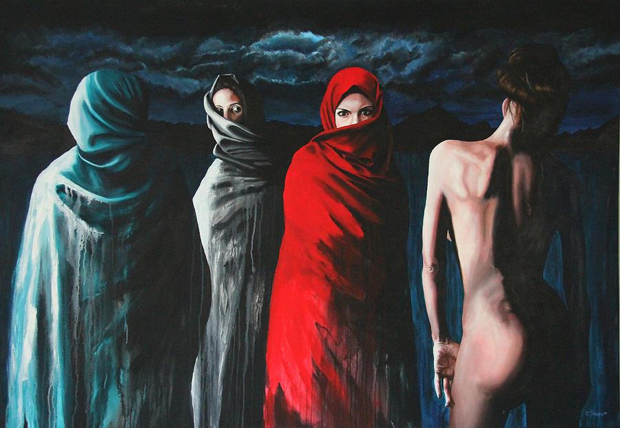 Women Painting - Hermanas II by Ryan Swallow