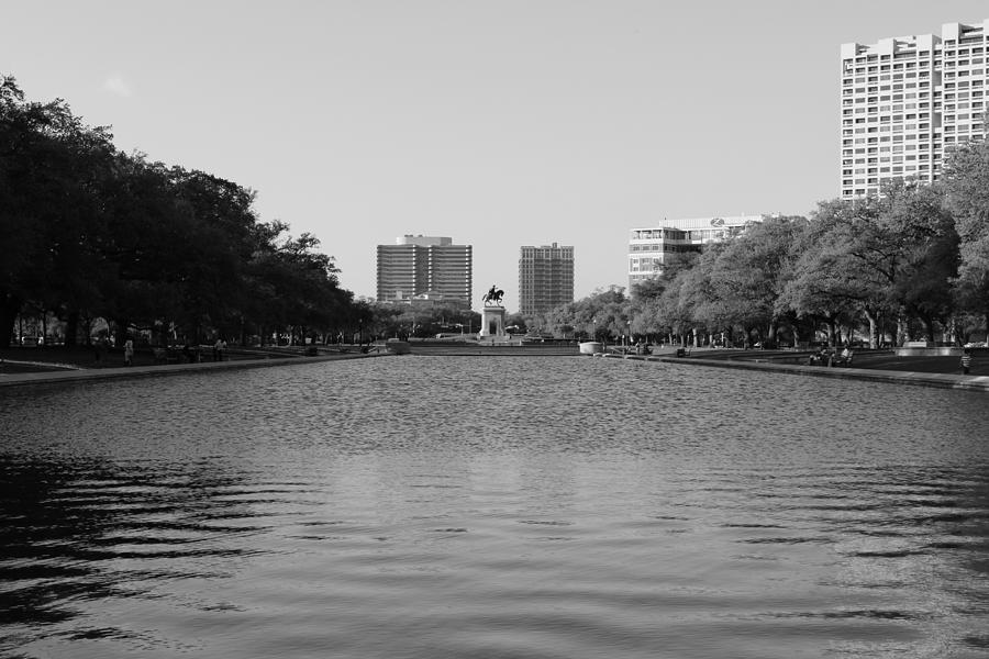 Black And White Photograph - Hermann Park Houston Tx. by Phillip Rangel