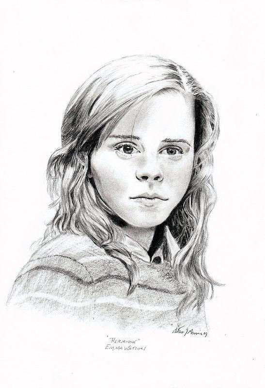 Portrait Drawing - Hermione by Peter Morris