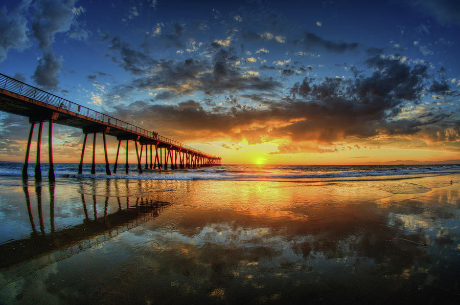 Horizontal Photograph - Hermosa Beach by Neil Kremer