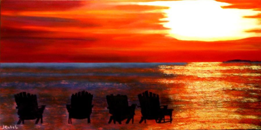 Oil Painting - Hernando Beach by Laura Gabel