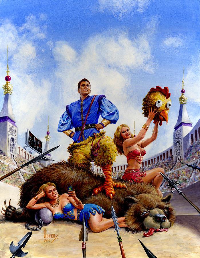 Fantasy Painting - Hero by Richard Hescox