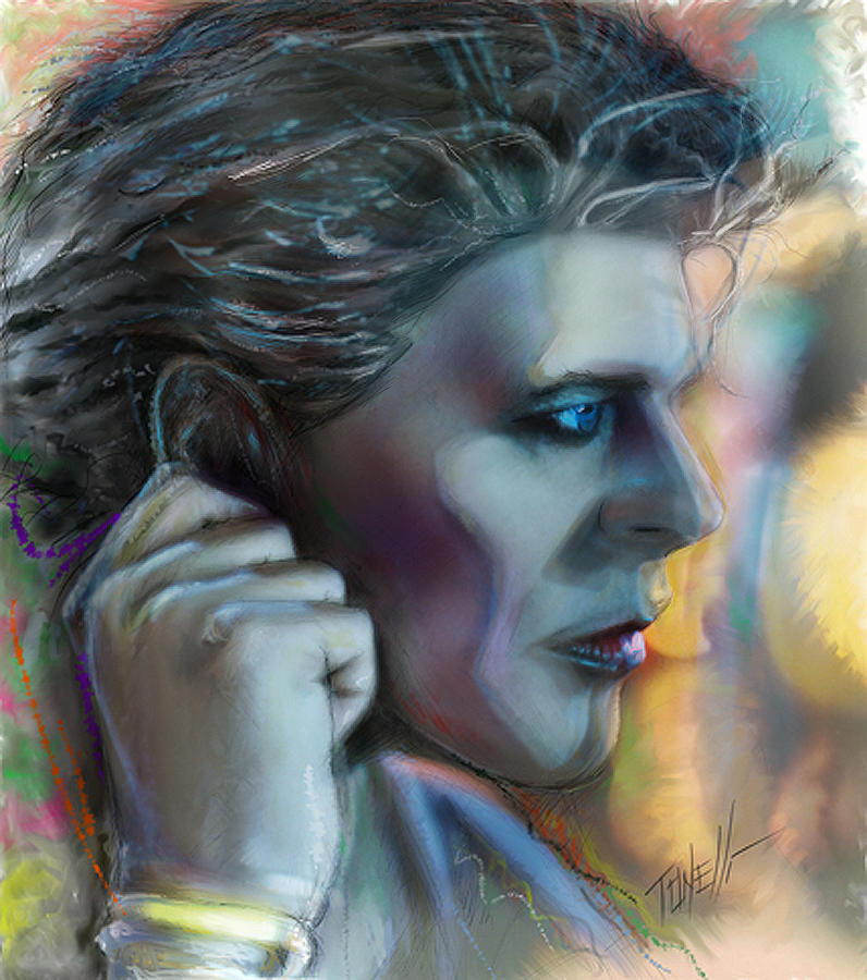 Bowie Heroes, David Bowie Mixed Media