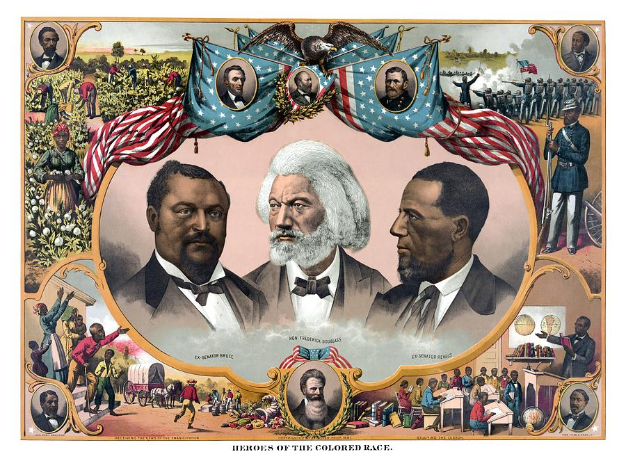 Black History Painting - Heroes Of African American History - 1881 by War Is Hell Store