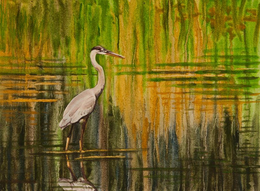 Heron Drip II by Heidi E Nelson
