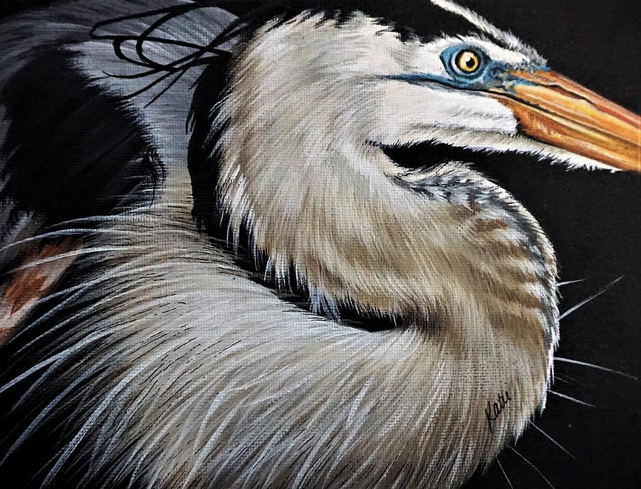 Heron by Katie McConnachie