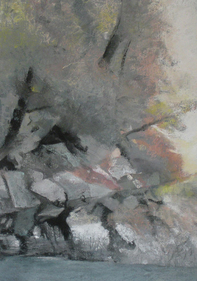Abstract Pastel - Heron Lake Winter Glow by Anita Stoll