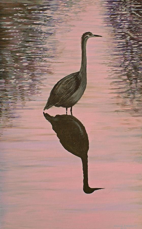 Heron Painting by Laurie Stewart