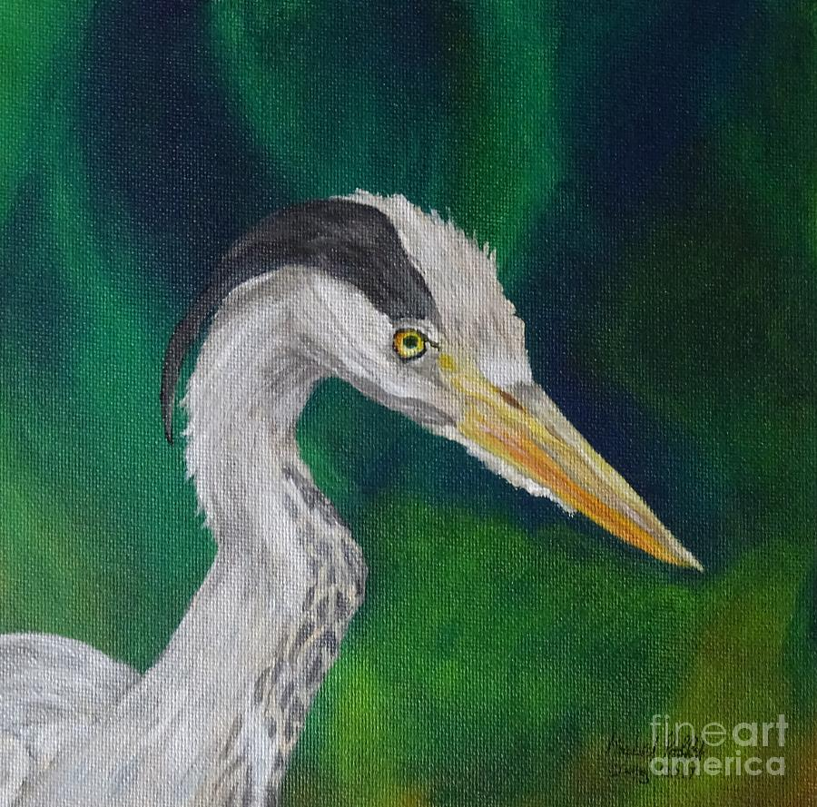 Acrylic Painting - Heron Painting by Isabel Proffit
