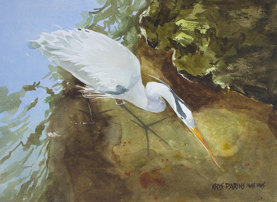 Heron under the Bridge by Kris Parins