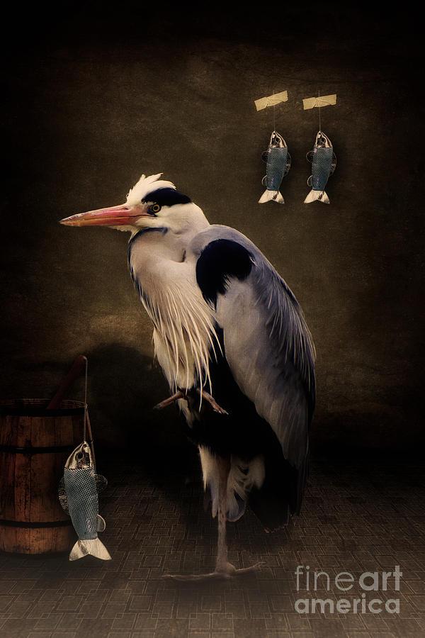 Herons Digital Art - Herons Home by Angela Doelling AD DESIGN Photo and PhotoArt