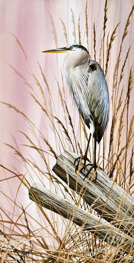 Heron Painting - Herons Watch by James Williamson
