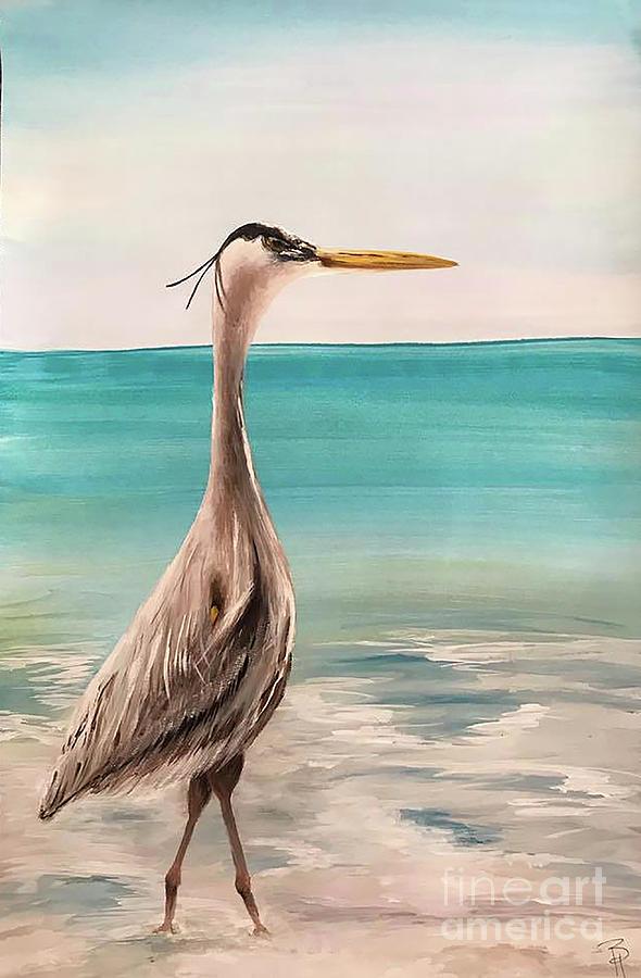 Herron Painting - Herron by Beth Hubbard