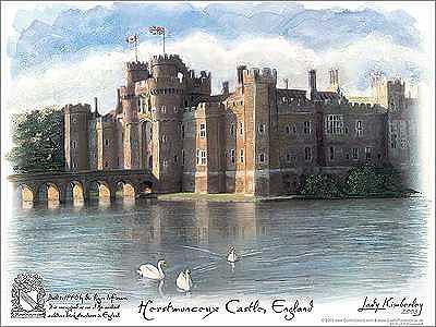 Herstmonceux Castle Painting - Herstmonceux Castle by Kimberley Reid