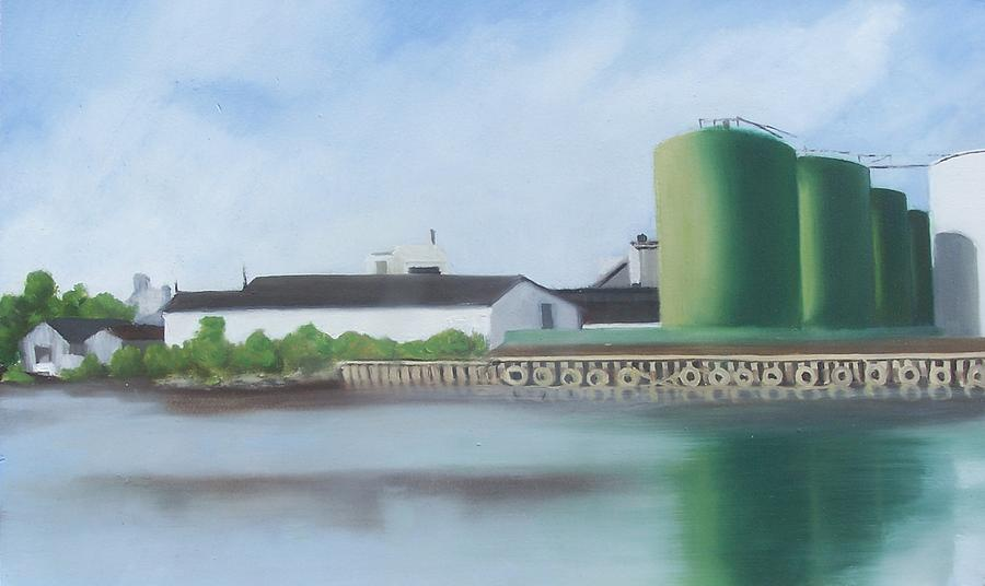 New Jersey Painting - Hess Tanks from Costco by Ron Erickson
