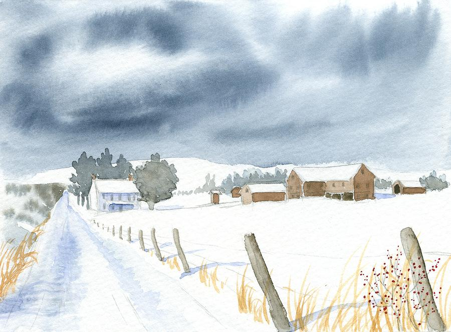 Winter Painting - Hester Homeplace by Denise   Hoff