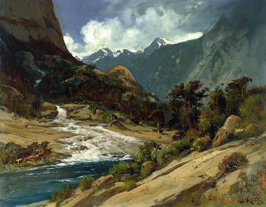 American Artist Painting - Hetch Hetchy Side Canyon, I by William Keith