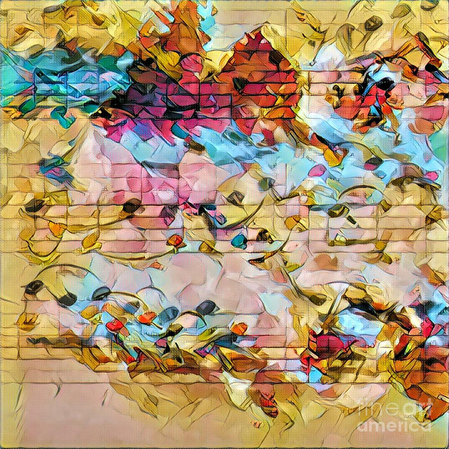 Music Digital Art - Heterophony Squared 1 by Lon Chaffin