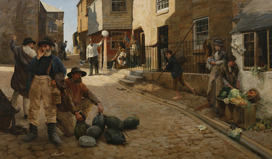 1889 Painting - Hevva Hevva by Percy Robert Craft