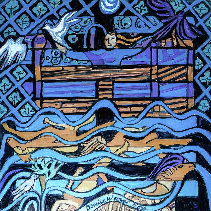 I Ching Painting - Hexagram 29-Kan  by Denise Weaver Ross