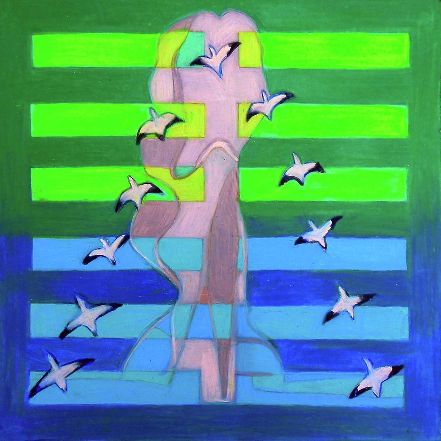 I Ching Painting - Hexagram Seven-Shih by Denise Weaver Ross