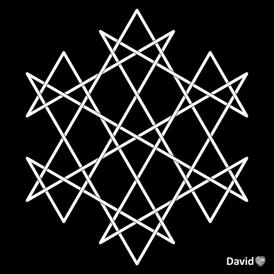 Hexagram Digital Art - Hexagrammaton by David Diamondheart
