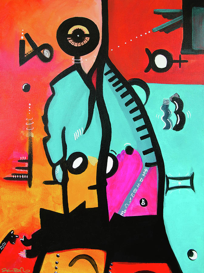 Hey Baby, Whats Your Sign? Acrylic On 24 X 18 Gallery Wrap Canv Painting