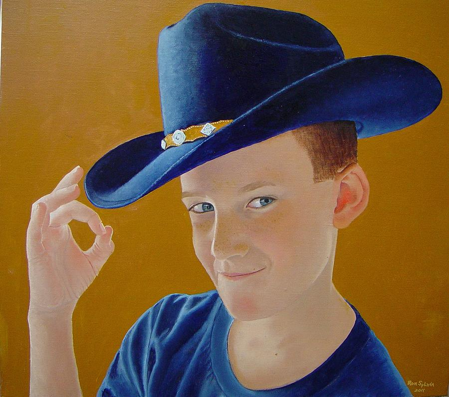 Cowboy Painting - Hey Dude by Ron Sylvia