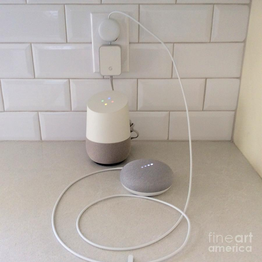 Google Photograph - Hey Google Home Mom Its Google Mini Please Dont Abort Me by Richard W Linford