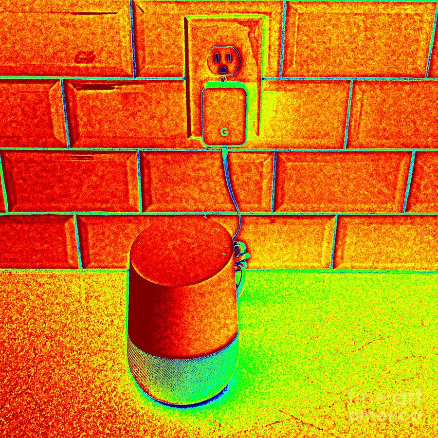 Google Photograph - Heat Map Hey Google How Can You Help Me by Richard W Linford