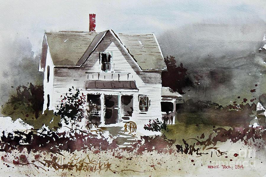 Kansas Painting - Heyl House, Minneapolis, Kansas by Monte Toon