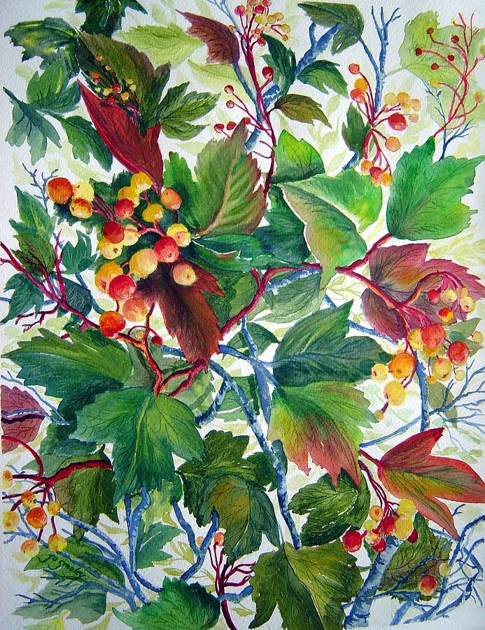 Berries Painting - Hi-bush Cranberries by Joanne Smoley