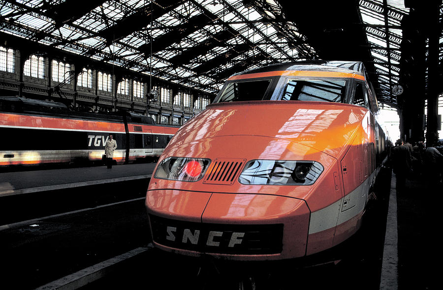 High Speed Train in Paris by Carl Purcell