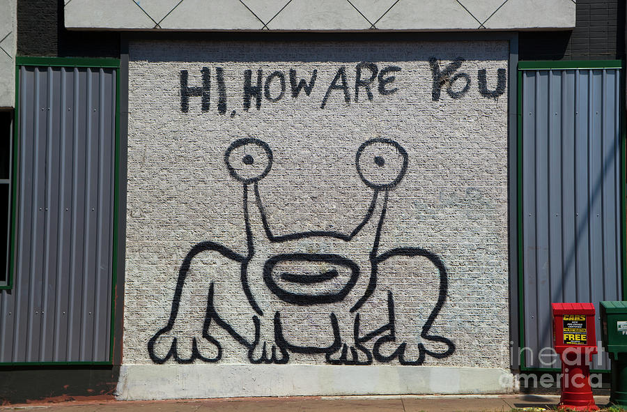 Mural Photograph - Hi How Are You Mural Austin Landmark Ut Drag & Hi How Are You Mural Austin Landmark Ut Drag Austin Texas ...