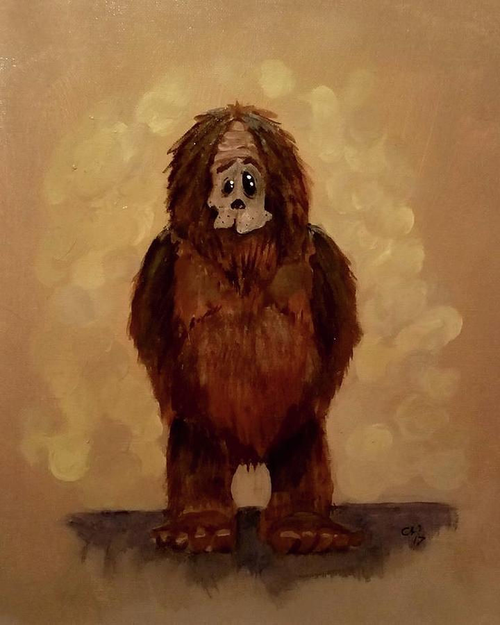 Yeti Painting - Hi, Im Scott by Carole Hutchison