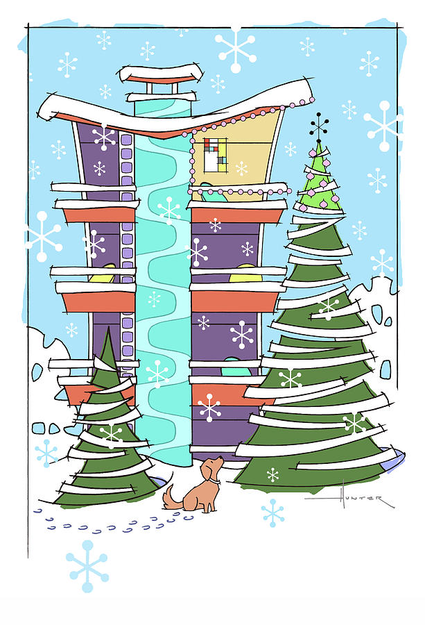 Hi-rise Christmas by Larry Hunter