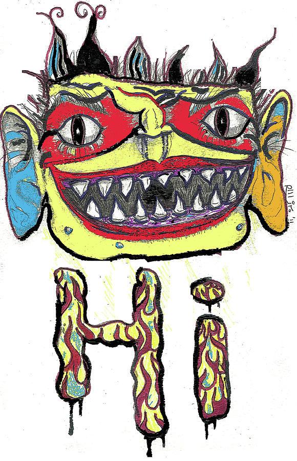 Contemporary Drawing - Hi by Robert Wolverton Jr