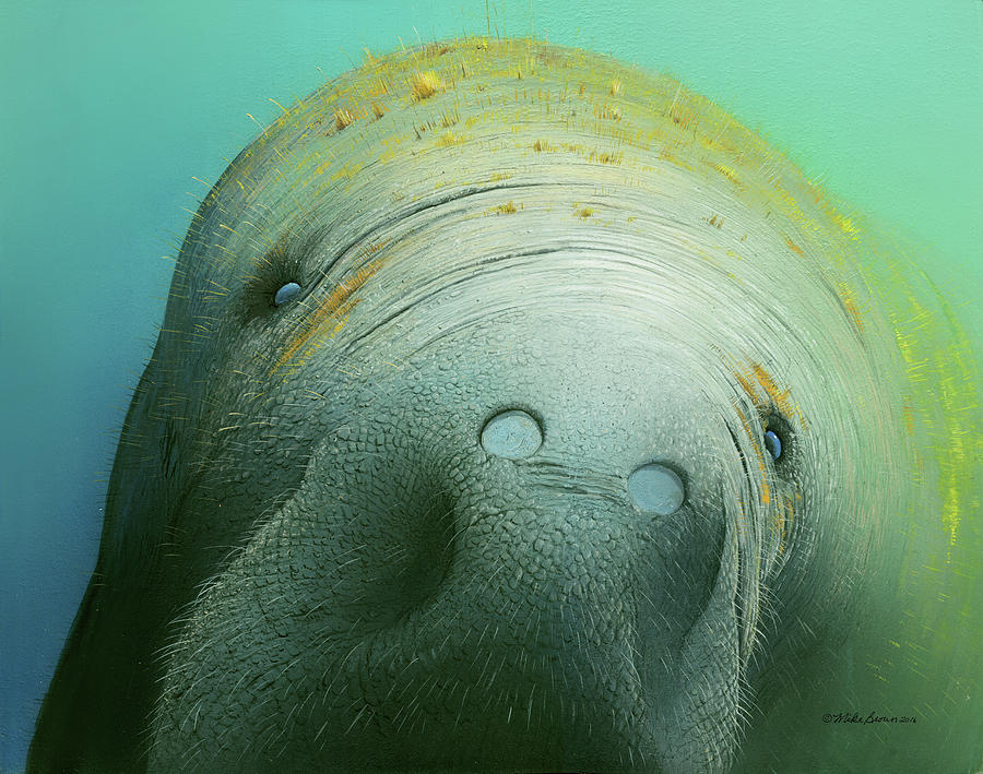 Sea Painting - Hi There by Mike Brown