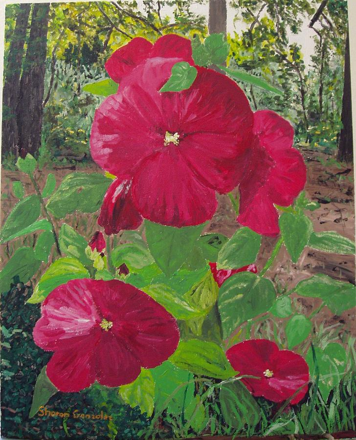 Flowers Painting - Hibiscus 2 by Sharon  De Vore