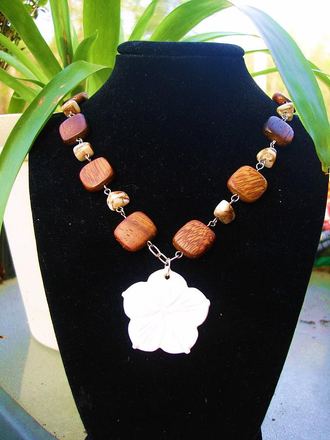 Stone Jewelry - Hibiscus Aloha by Coty Noojin
