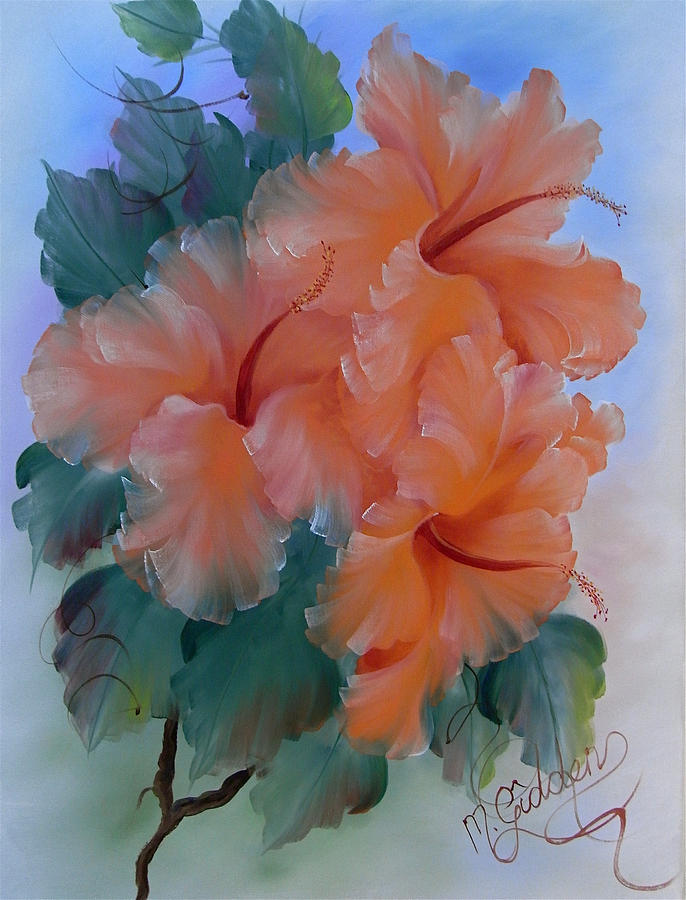 Hibiscus Painting - Hibiscus Delight by Micheal Giddens