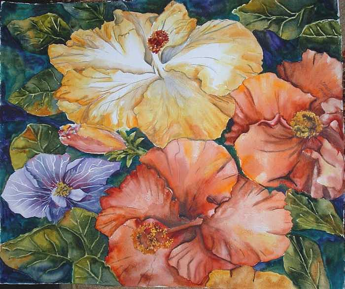 Watercolor Painting - Hibiscus by Diane Ziemski
