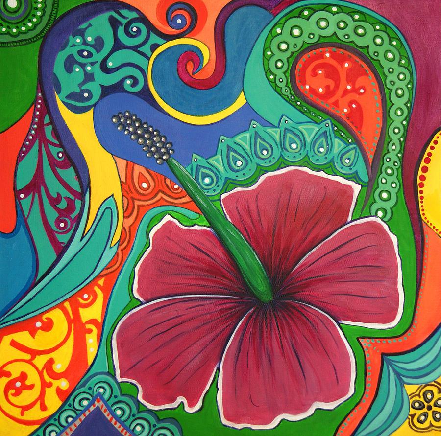 happy hippie paintings fine art america