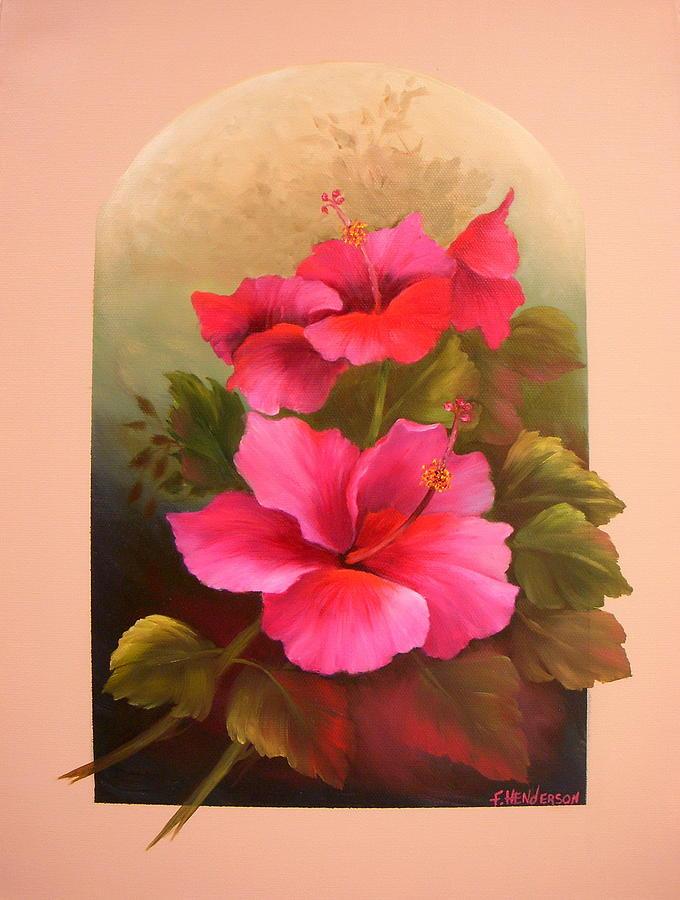 Flower Painting - Hibiscus Garden by Francine Henderson