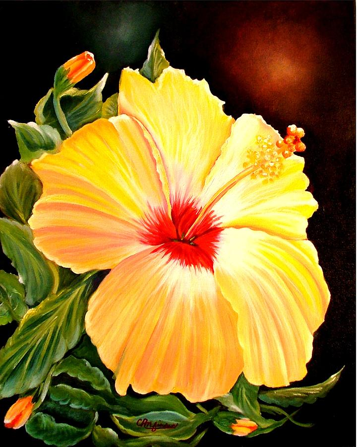Hibiscus Painting - Hibiscus Glory by Carol Allen Anfinsen