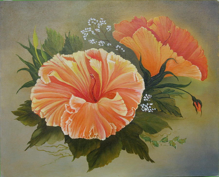 Floral Painting - Hibiscus  by Joan Taylor-Sullivant