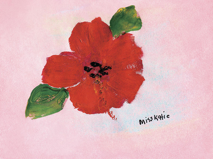 Background Painting - Hibiscus by Katie OBrien - Printscapes